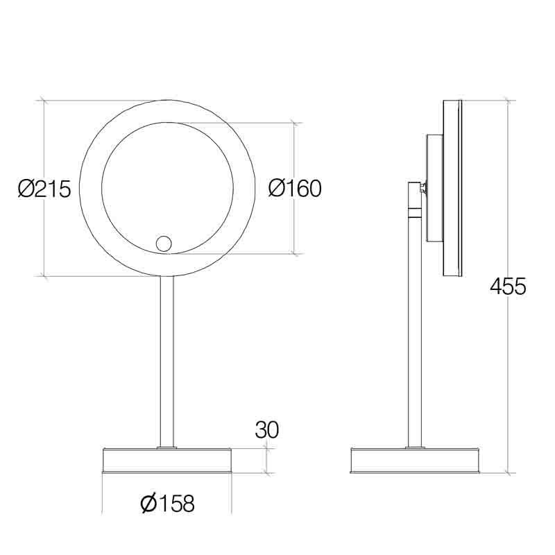 lineabeta specchio ingranditore 3x con LED