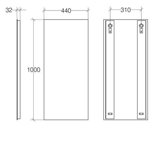 Lineabeta specchio verticale slim in promozione - Specchio verticale ...
