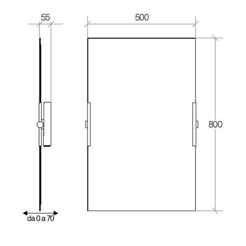 Lineabeta specchio orientabile verticale in promozione - Specchio verticale ...