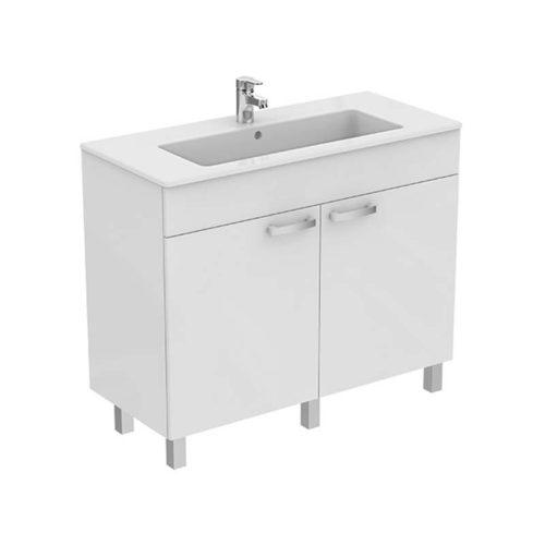 lavabo con mobile a pavimento linea gemma