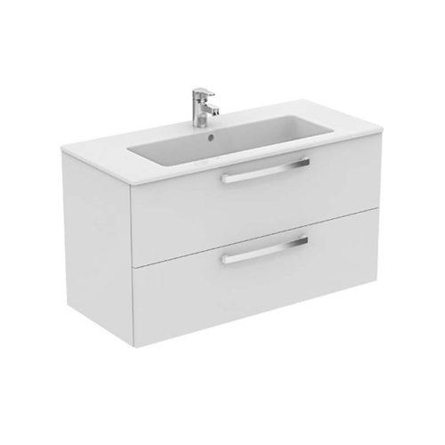 lavabo con mobile sospeso linea gemma