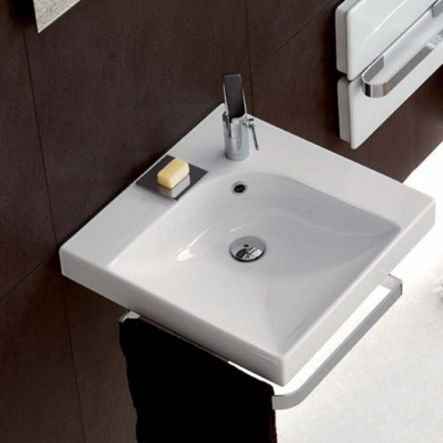 lavabo sospeso quadrato linea grandangolo