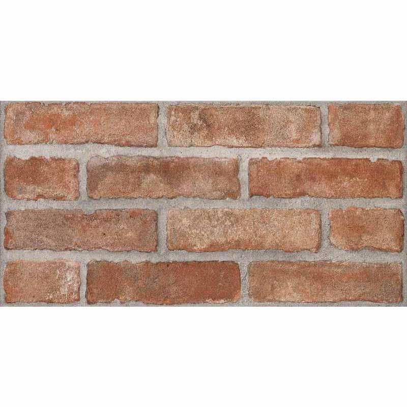 Piastrelle red linea brick 31x62 in promozione for Obi pannelli legno