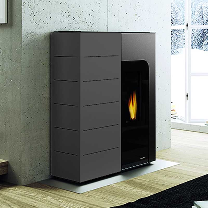 Palazzetti stufa a pellet ginger 9 12 kw for Parametri stufa pellet palazzetti