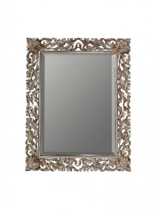 Gaia specchio Olivier con foglia d\'argento anticato - Planetcasa.it