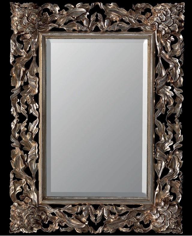 Gaia specchio Pierre con foglia d\'argento anticato - Planetcasa.it